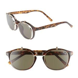 Quay Penny Royal 55mm Flip-Up Round Sunglasses